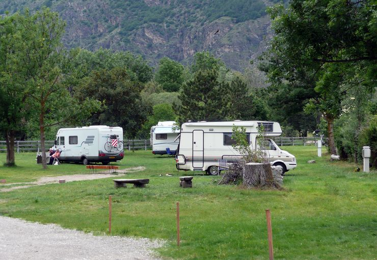 Camping im Park in Glurns